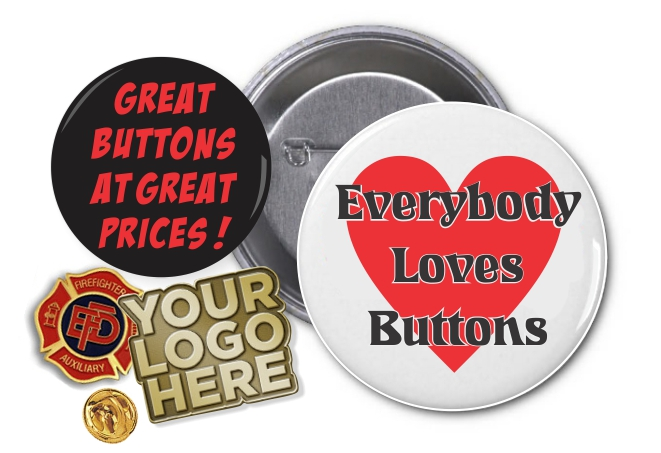 great buttons and pins